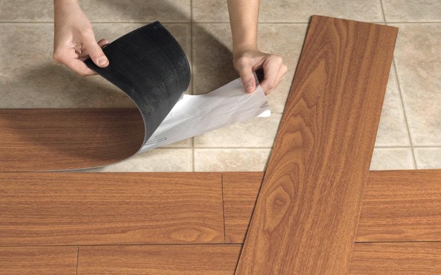 Vinyl tile installation: How it's done