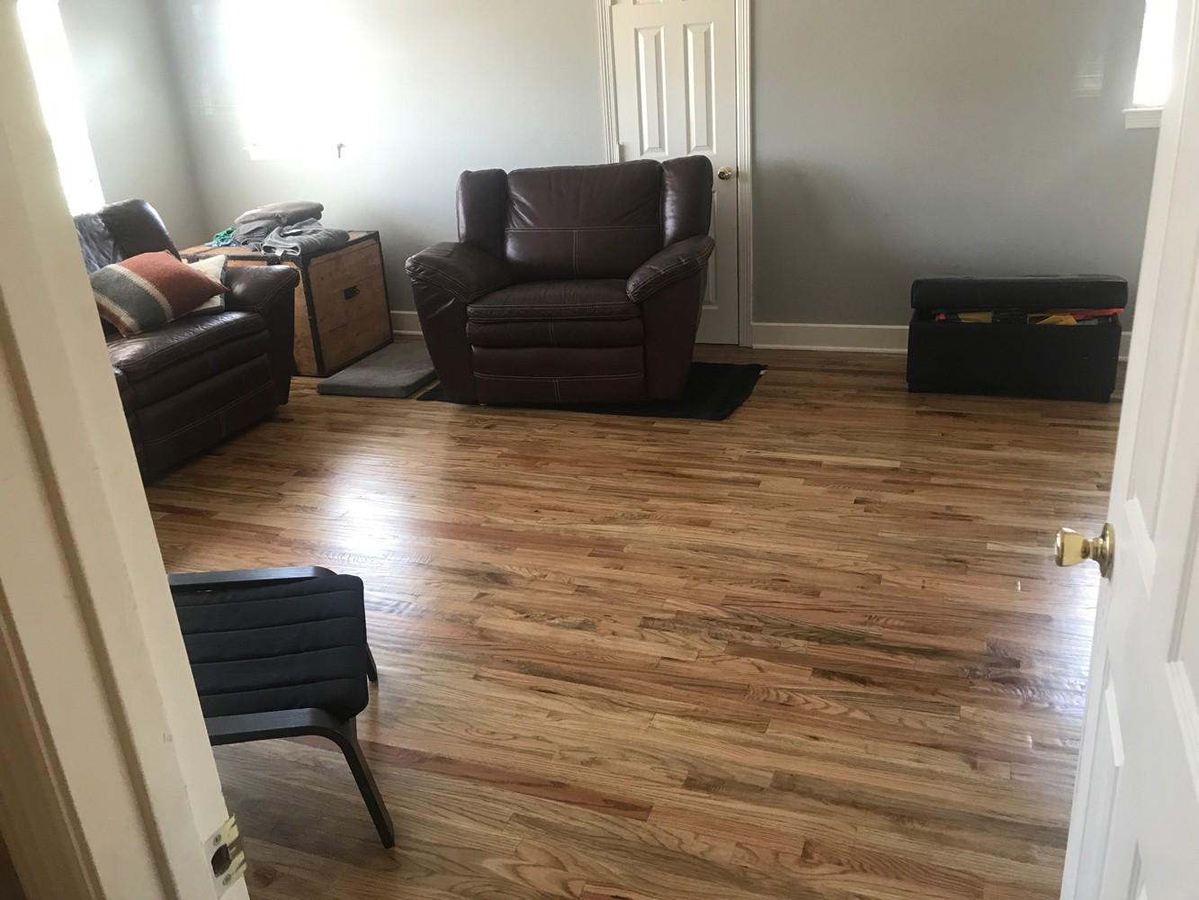 Solid hardwood installation in Colleyville, TX