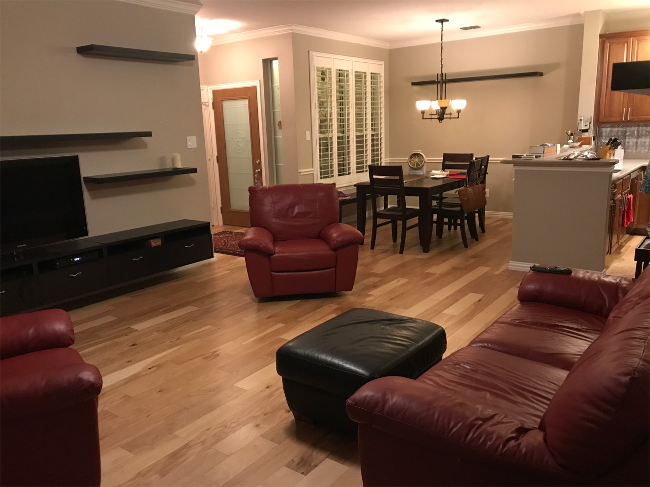 Installing Engineered Hickory Floors In Frisco Tx Gc