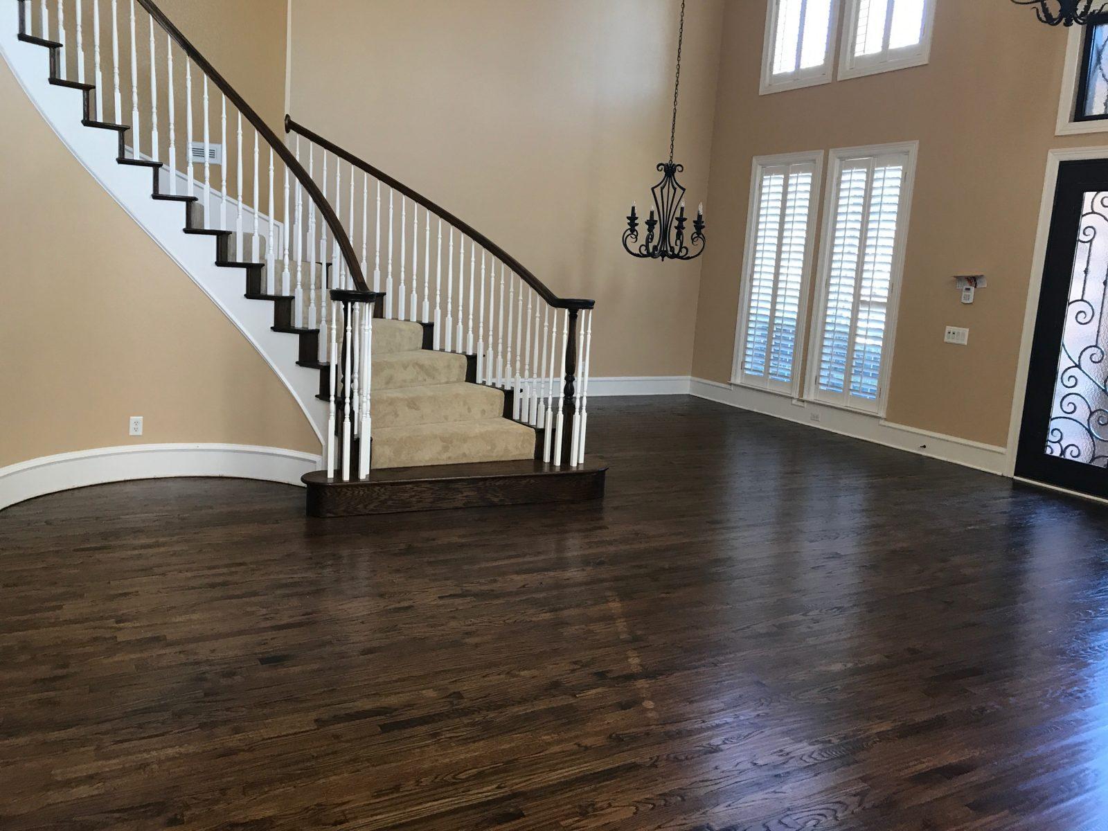Solid wood floors in Flower Mound Texas