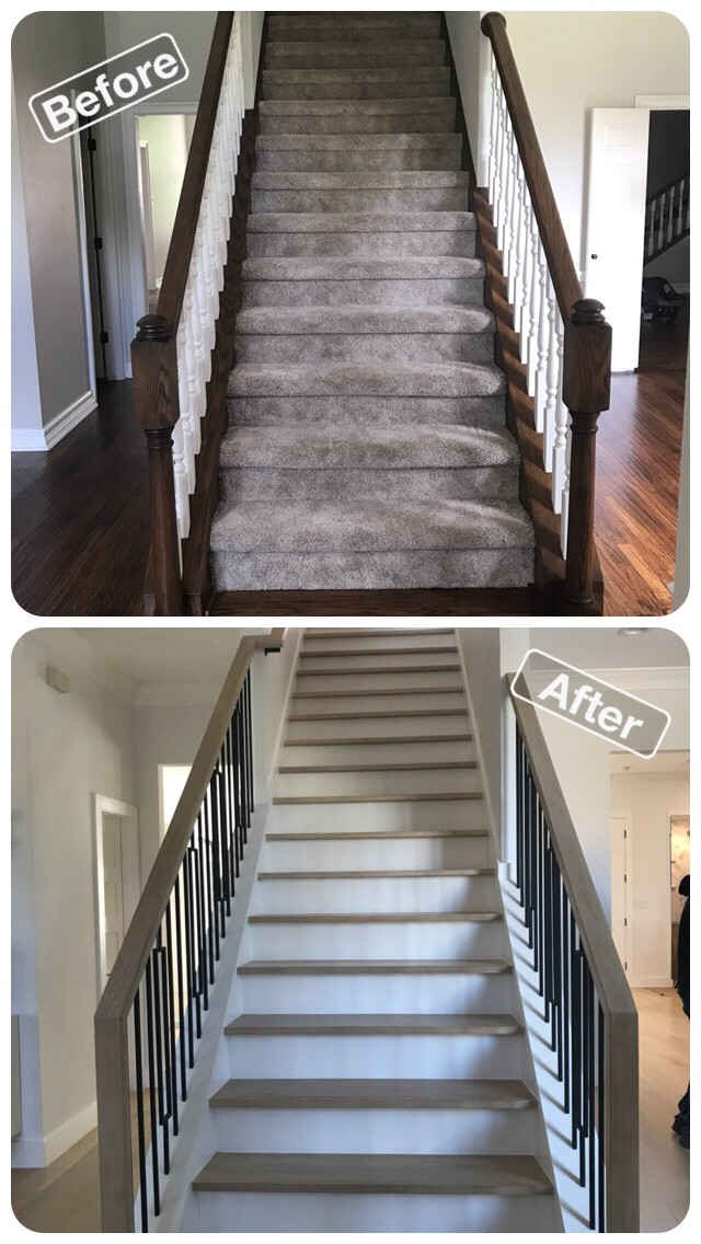 White Oak Stairs in Frisco Texas