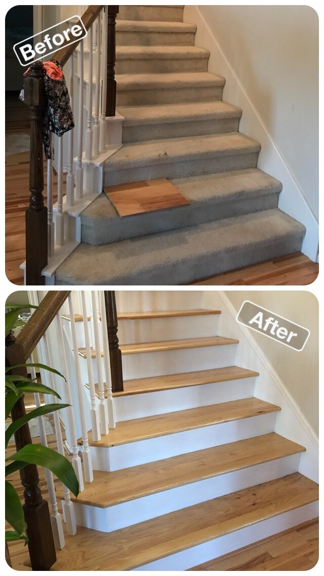 Hickory Wood Stairs Frisco Texas